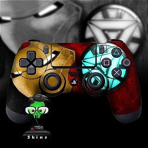 Adesivo de Controle PS4 Iron Man Mod 01