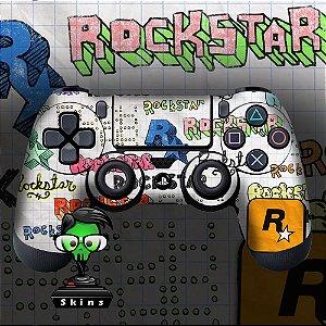 Adesivo de Controle PS4 Rockstar Mod 01