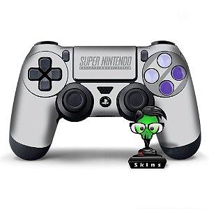 Adesivo de Controle PS4 Super Nintendo Mod 01