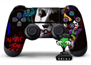 Adesivo de Controle PS4 Coringa Mod 01