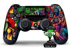 Adesivo de Controle PS4 Marvel Mod 01