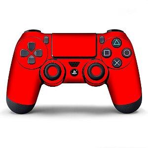 Adesivo de Controle PS4 Vermelho Metalizado Mod 01
