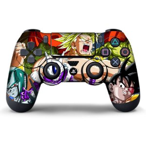 Adesivo de Controle PS4 Dragonball Z Mod 03