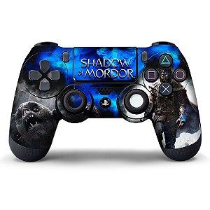 Adesivo de Controle PS4 Shadow of Mordor Mod 01
