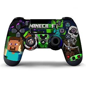 Adesivo de Controle PS4 Minecraft Mod 03