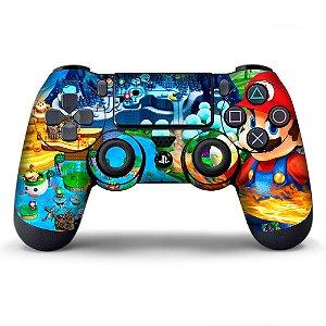 Adesivo de Controle PS4 Mario Bros Mod 02