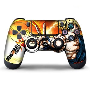Adesivo de Controle PS4 Dragonball XV Mod 01