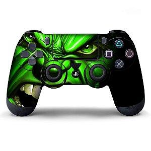 Adesivo de Controle PS4 Hulk Mod 01