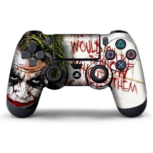 Adesivo de Controle PS4 Coringa Mod 04
