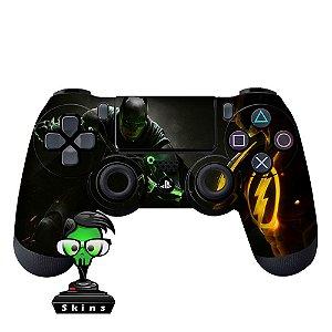 Adesivo de Controle PS4 Batman Flash Mod 01
