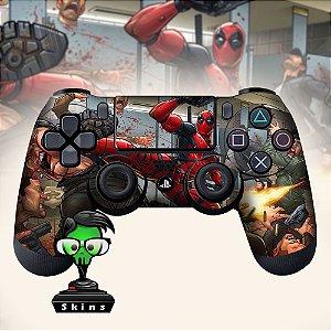 Adesivo de Controle PS4 Dead Pool Mod 01