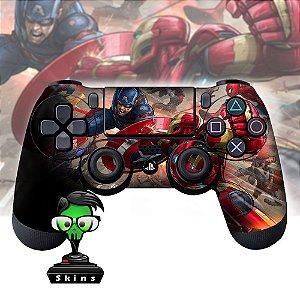 Adesivo de Controle PS4 Avengers Mod 02