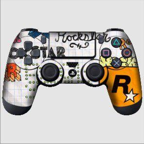 Adesivo de Controle PS4 Rockstar Mod 02