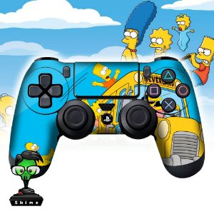 Adesivo de Controle PS4 The Simpsons Mod 02