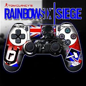 Adesivo de Controle PS4 Raibow Six Mod 6