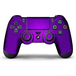 Adesivo de Controle PS4 Violeta Metalizado Mod 01