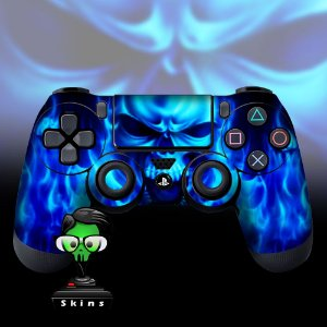 Adesivo de Controle PS4 Skull Flame Mod 01