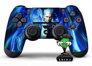 Adesivo de Controle PS4 Devil May Cray Vergil Mod 01