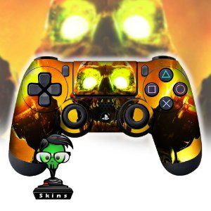 Adesivo de Controle PS4 Doom Skull Mod 01