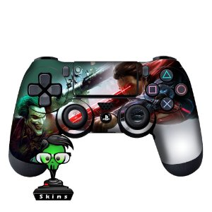 Adesivo de Controle PS4 Joker VS Superman Mod 01