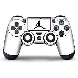 Adesivo de Controle PS4 Jordan White Mod 01