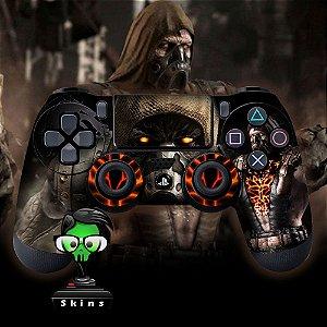 Adesivo de Controle PS4 Mortal Kombat Tremor Mod 01