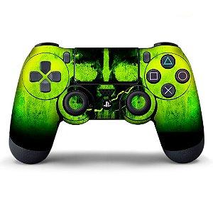 Adesivo de Controle PS4 Skull Green Mod 01