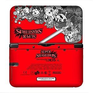 Adesivo skin de proteção 3ds XL Super Smash Bros Vermelho