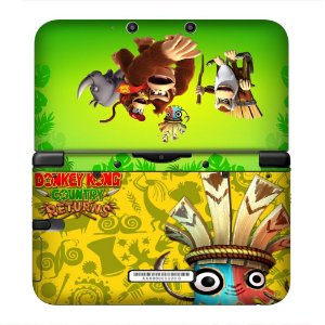 Adesivo skin de proteção 3ds XL Donkey Kong Country