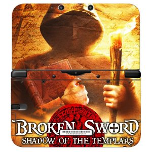 Adesivo Skin de Proteção 3ds XL Broken Sword Mod 02