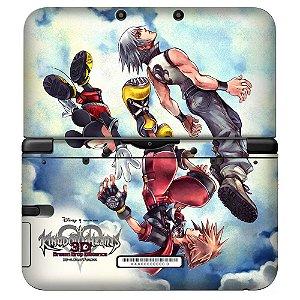Adesivo Skin de Proteção 3ds XL Kingdom Hearts