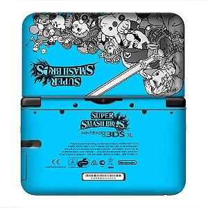 Adesivo Skin de Proteção 3ds XL Super Smash Bros