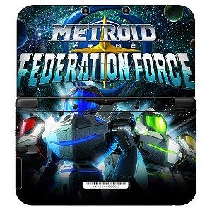 Adesivo Skin de Proteção 3ds XL Metroid Federation Force