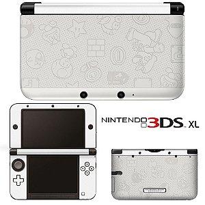 Adesivo Skin de Proteção 3ds XL Super Mario White