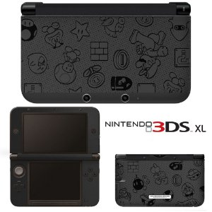 Adesivo Skin de Proteção 3ds XL Super Mario Cinza