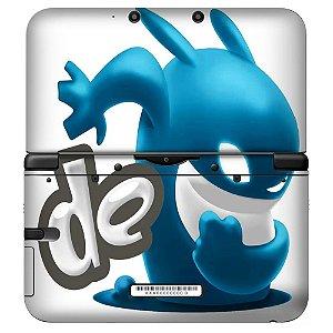 Adesivo Skin de Proteção 3ds XL Game Blue