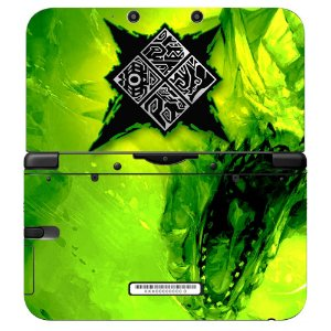 Adesivo Skin de Proteção 3ds XL Monster HunterGreen