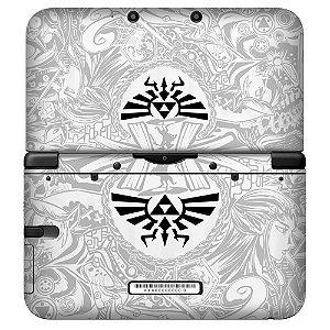 Adesivo Skin de Proteção 3ds XL The Legend of Zelda Triforce White