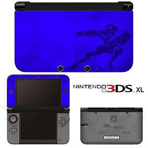 Adesivo Skin de Proteção 3ds XL Metroid Prime Blue