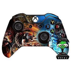 Adesivo de Controle Xbox One Mortal Kombat