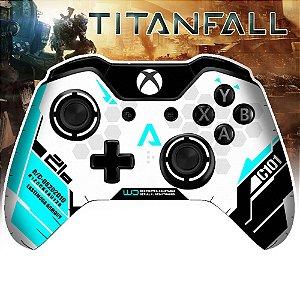 Adesivo de Controle Xbox One Titanfall Ciano
