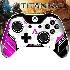 Adesivo de Controle Xbox One Titanfall Rosa