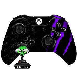 Adesivo de Controle Xbox One Monster Roxo