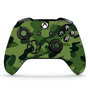 Sticker de Controle Xbox One Camuflado Verde Mod 01
