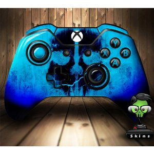 Sticker de Controle Xbox One Cod Ghosts Skull Blue
