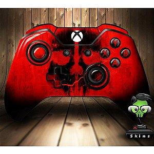 Sticker de Controle Xbox One Cod Ghosts Skull Red