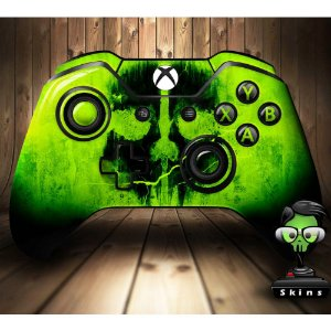 Sticker de Controle Xbox One Cod Ghosts Skull Green