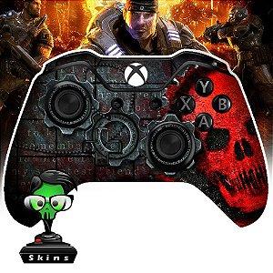 Sticker de Controle Xbox One Gears Of War Red