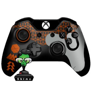 Sticker de Controle Xbox One Destiny Texture Orange