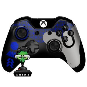 Sticker de Controle Xbox One Destiny Texture Blue